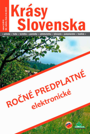 Ročné predplatné časopisu Krásy Slovenska – elektronické (od 7-8/2018)