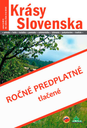 Ročné predplatné časopisu Krásy Slovenska – tlačené (od 7-8/2018)