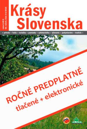 Ročné predplatné časopisu Krásy Slovenska – tlačené+elektronické (od 7-8/2018)