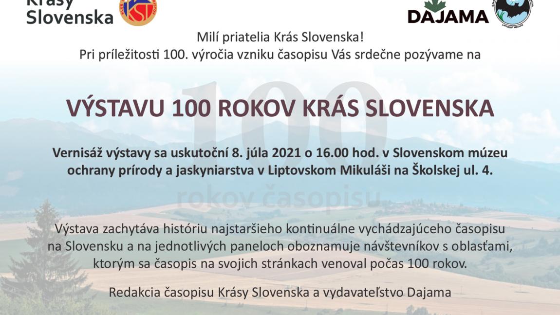 Výstava – 100 rokov Krás Slovenska